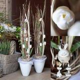 Negozio di fiore della decorazione della primavera Fotografie Stock Libere da Diritti