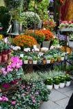 Negozio di fiore della via Fotografia Stock Libera da Diritti