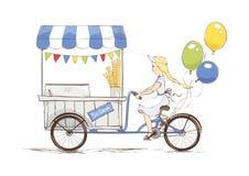 Negozio di gelato sulla bicicletta Immagine Stock