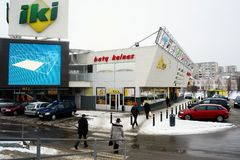Negozio di Iki nel distretto di Fabijoniskes della città di Vilnius Fotografia Stock Libera da Diritti