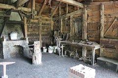 Negozio di legno storico dei lavoratori Fotografie Stock Libere da Diritti