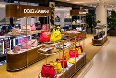 Negozio di lusso di marca a Milano, Italia Fotografie Stock