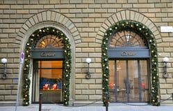 Negozio di modo di Cartier in Italia   fotografia stock