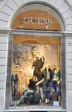Negozio di modo di congettura in Italia Fotografie Stock