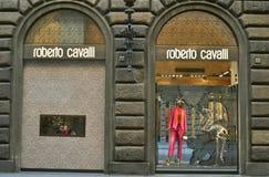 Negozio di modo di Roberto Cavalli in Italia Fotografia Stock Libera da Diritti