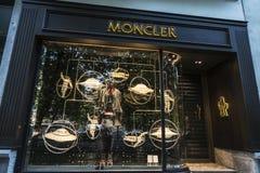 Negozio di Moncler a Bruxelles, Belgio immagine stock libera da diritti