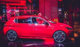 Negozio di Peugeot delle automobili Immagine Stock Libera da Diritti