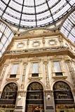 Negozio di Prada alla galleria Vittorio Emanuele II a Milano immagine stock
