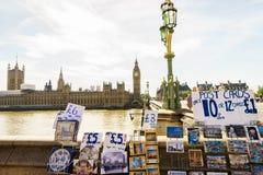 Negozio di ricordi a Londra Fotografia Stock