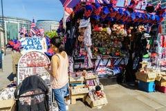 Negozio di ricordi a Londra Fotografia Stock Libera da Diritti