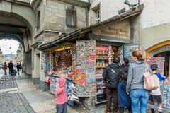 Negozio di ricordo a Berna, Svizzera Immagini Stock