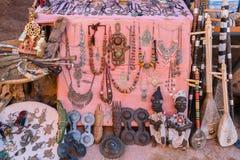 Negozio di ricordo del kasbah di Ait Ben Haddou, Ouarzazate, Moro Immagini Stock Libere da Diritti