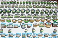 Negozio di ricordo di Alberobello con le case di trulli sulla Puglia Immagine Stock Libera da Diritti