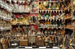 Negozio di ricordo a Marrakesh Immagine Stock Libera da Diritti