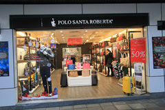 Negozio di Santa Roberta di polo a Hong Kong Fotografia Stock