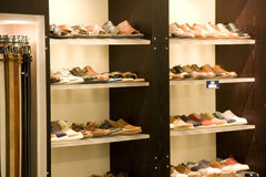 Negozio di scarpe Immagine Stock