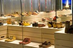 Negozio di scarpe Fotografia Stock