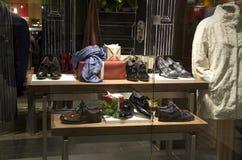 Negozio di scarpe dell'abbigliamento di modo Fotografia Stock
