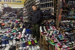 Negozio di scarpe nel Vietnam immagine stock libera da diritti