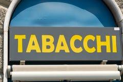 Negozio di tabacco italiano fotografie stock