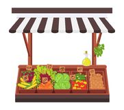 Negozio di verdure Concetto del illustrazione vettoriale