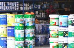 Negozio di vernice del lattice Fotografia Stock Libera da Diritti
