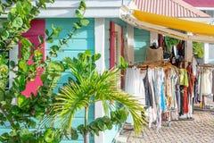Negozio di vestiti/boutique dell'isola dei Caraibi per le signore fotografia stock libera da diritti