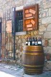 Negozio di vino toscano tipico fotografia stock