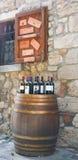 Negozio di vino toscano tipico immagini stock