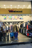 Negozio di Weetwood a Hong Kong Fotografia Stock Libera da Diritti