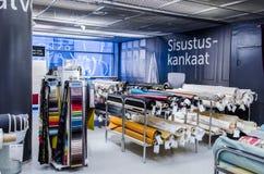 Negozio domestico del tessuto a Tampere, Finlandia Fotografia Stock