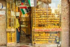 Negozio Dubai dell'oro Fotografia Stock
