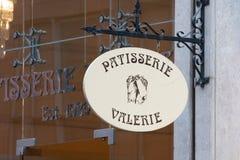Negozio e caffè di Valerie Cake della pasticceria immagine stock