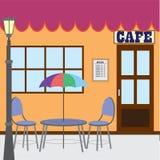 Negozio esterno del caffè. Immagine Stock Libera da Diritti