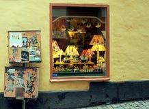 Negozio-finestra nel kholm del  di StoÑ, Svezia Fotografia Stock