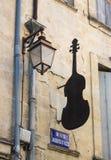Negozio francese di musica Fotografie Stock Libere da Diritti