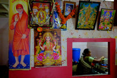 Negozio indiano del tè Fotografia Stock