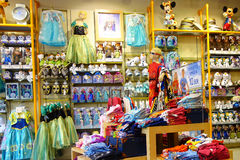 Negozio interno di Disney Store Fotografia Stock Libera da Diritti