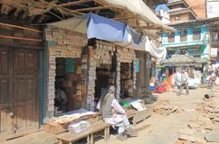 Negozio Kathmandu Nepal della spezia immagine stock