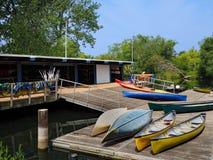 Negozio locativo della canoa Immagine Stock Libera da Diritti