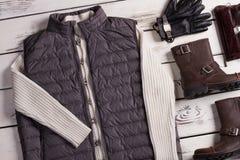 Negozio maschio dei vestiti alla moda Fotografia Stock