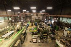 Negozio metallurgico Torni e smerigliatrici, saldatura e tagliatrici Immagine Stock Libera da Diritti