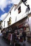 Negozio a Mijas nelle montagne sopra Costa del Sol in Spagna Fotografia Stock