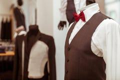 Negozio moderno del vestito Fotografie Stock