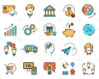Negozio piano del mercato di progettazione di arte dell'icona della linea di business di vettore illustrazione vettoriale