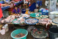 Negozio tailandese dei frutti di mare Fotografia Stock