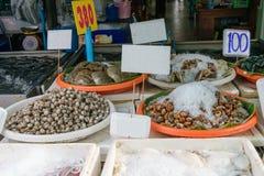 Negozio tailandese dei frutti di mare Immagini Stock Libere da Diritti