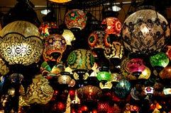 Negozio turco della lampada Fotografia Stock Libera da Diritti