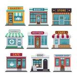 Negozio urbano del commercio al dettaglio, deposito royalty illustrazione gratis