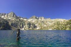 Negremeer in het Nationale Park van Aiguestortes Royalty-vrije Stock Fotografie